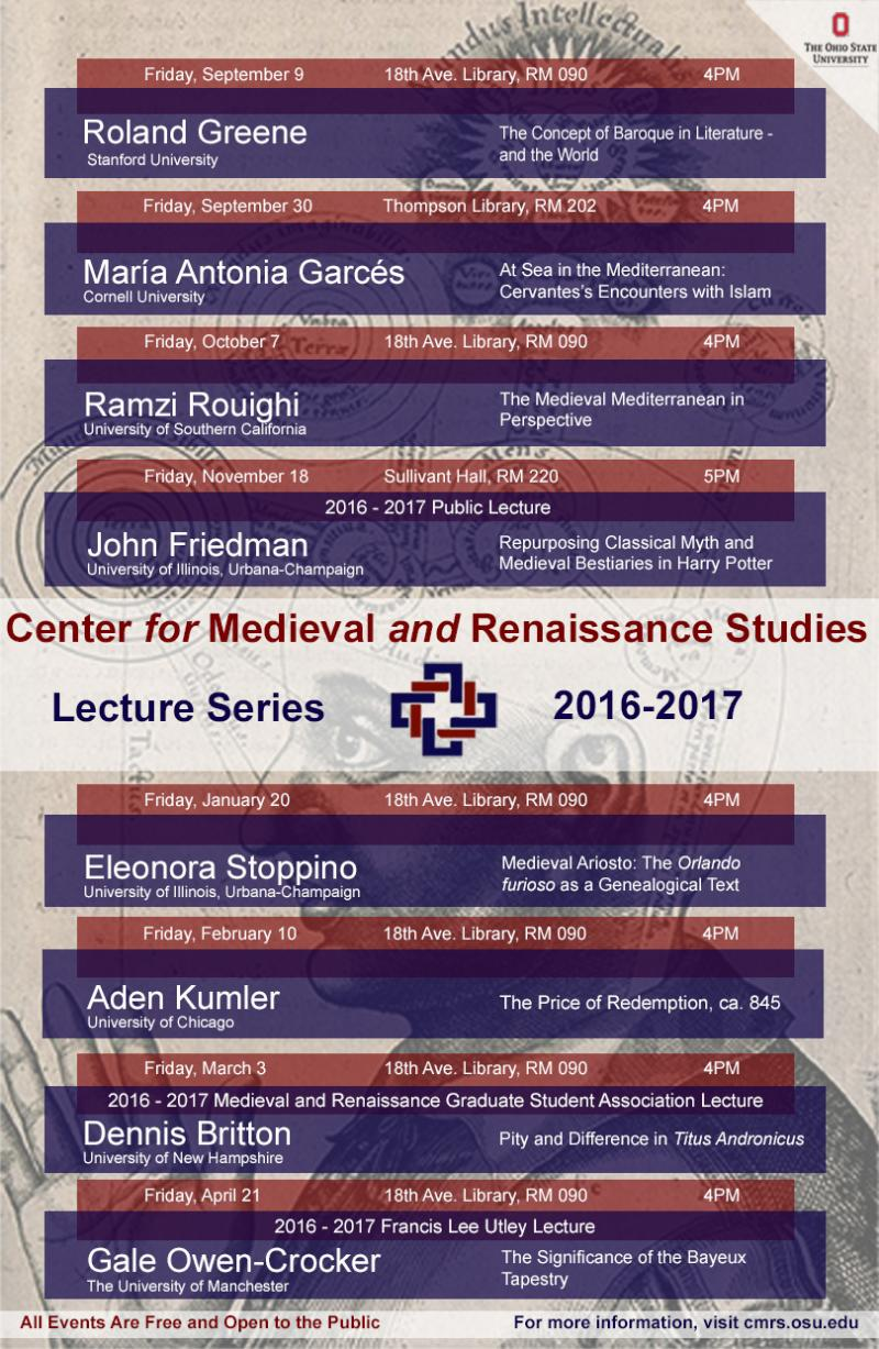 2016 2017 Lecture Series Poster