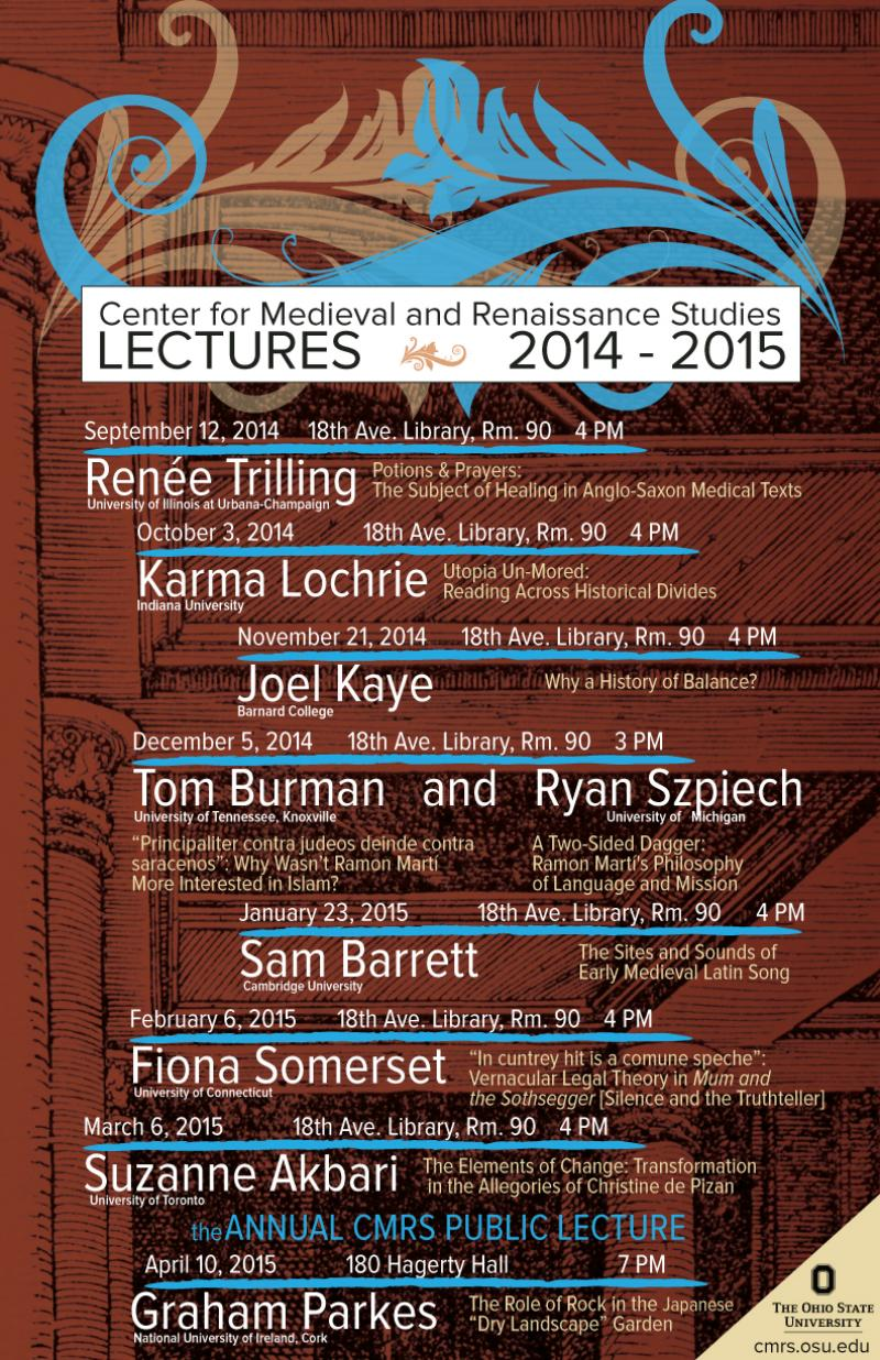 2014-2015 Lecture Series Poster