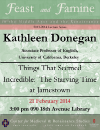 Flyer for Donegan CMRS Lecture