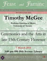 Flyer for McGee CMRS Lecture