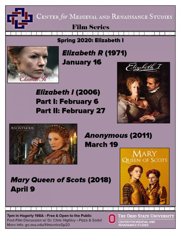Elizabeth Film Series Poster. Info reprinted below.